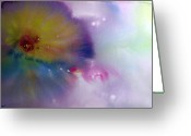 Spirit Rising Greeting Cards - Abstract Greeting Card by Sevan Thometz