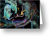 Meditative Greeting Cards - Abstract-Spirit Greeting Card by Patricia Motley