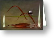 Lacy Abstract Greeting Cards - Abstract Still Life Greeting Card by Anne Lacy