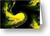 Greet Greeting Cards - Abstract Thinking Greeting Card by Karen M Scovill