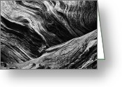 Biggest Tree Greeting Cards - Abstract tree lll - black and white Greeting Card by Hideaki Sakurai