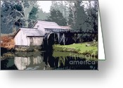 Most Photographed Photo Greeting Cards - Abstract View of Mabry Mill Greeting Card by Shannon Slaydon