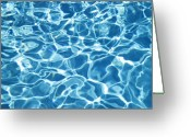 Shimmer Greeting Cards - Abstract Water Greeting Card by Tony Cordoza