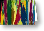 Award Digital Art Greeting Cards - abstract02-Camouflage Greeting Card by Eakaluk Pataratrivijit