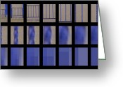 Window Art Digital Art Greeting Cards - Abstraction for Twenty Seven Absent Windows Greeting Card by Evan Steenson