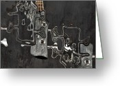 Musical Art Greeting Cards - Abstrait en Do Majeur a2 Greeting Card by Aimelle
