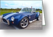 Race Car Photo Greeting Cards - AC Cobra Greeting Card by Carey Chen