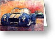 Classic Auto Greeting Cards - AC Cobra Shelby 427 Greeting Card by Yuriy  Shevchuk