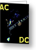 Spokane Greeting Cards - AC DC Rocks Greeting Card by Ben Upham