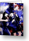 Concert Painting Greeting Cards - Ac Dc Greeting Card by Rosalina Atanasova