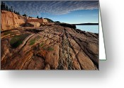 Desert Island Greeting Cards - Acadia Rocks Greeting Card by Neil Shapiro