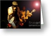 Signing Greeting Cards - Acdc Greeting Card by David Lee Thompson