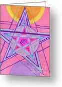 Amulet Greeting Cards - Ace Of Solomon Greeting Card by Joey Gonzalez