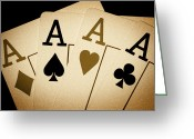 4 Aces Photo Greeting Cards - Aces Greeting Card by Shane Rees