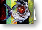 Huge Greeting Cards - AcidFish 70 Greeting Card by J Vincent Scarpace