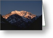 Andes Greeting Cards - Aconcagua Is 22,834 Feet 6,960 Meters Greeting Card by James P. Blair