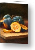 Cooks Illustrated Painting Greeting Cards - Acorn Squash Greeting Card by Robert Papp