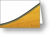 Guitar Greeting Cards - Acoustic Curve Greeting Card by Bob Orsillo