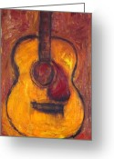 Taylor Guitar Greeting Cards - Acoustic guitar 3 Greeting Card by Karl Haglund