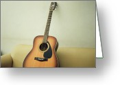Acoustic Guitar Greeting Cards - Acoustic Guitar Greeting Card by Jiang D photography