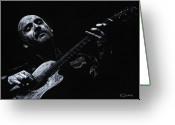 Man Pastels Greeting Cards - Acoustic Serenade Greeting Card by Richard Young