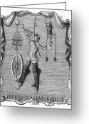 Tightrope Greeting Cards - ACROBAT, c1750 Greeting Card by Granger