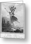 Tightrope Greeting Cards - Acrobats: Madame Saqui Greeting Card by Granger