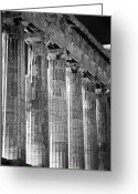 Europa Greeting Cards - Acropolis Columns Greeting Card by John Rizzuto