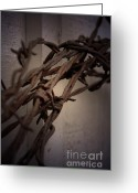 Barbed Wire Fences Photo Greeting Cards - Across From Yesterday Greeting Card by C E Dyer