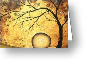 Whimsical Tree Greeting Cards - Across the Golden River by MADART Greeting Card by Megan Duncanson