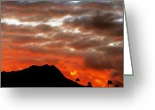 Diamond Head Greeting Cards - Active Diamond Head Greeting Card by Richard Keith