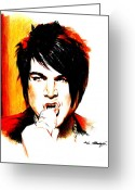 Artist Greeting Cards - Adam Lambert Greeting Card by Lin Petershagen