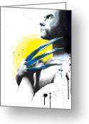 Wolverine Greeting Cards - Adamantium Greeting Card by Amber Keller