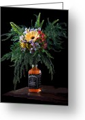 Jack Daniels Greeting Cards - Addicted painterly Greeting Card by Marcel Kaiser