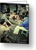 Chess Game Greeting Cards - Addiction Greeting Card by Charuhas Images