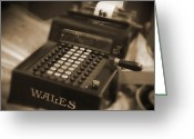 Old Digital Art Greeting Cards - Adding Machine Greeting Card by Mike McGlothlen