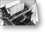 Typewriter Greeting Cards - Address Labels Greeting Card by Archive Photos