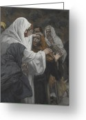 Saint Joseph Greeting Cards - Address to Saint Philip Greeting Card by Tissot