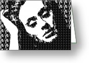 Grammy Greeting Cards - Adele 21 Album Cover Digital Art Greeting Card by Ryan Dean