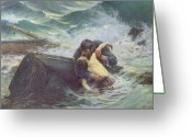 Embracing Greeting Cards - Adieu Greeting Card by Alfred Guillou