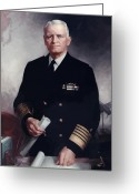 Navy Painting Greeting Cards - Admiral Chester Nimitz Greeting Card by War Is Hell Store