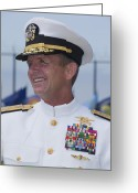 United States Special Operations Command Greeting Cards - Admiral Eric T. Olson Speaks Greeting Card by Michael Wood