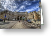 Admiralty Greeting Cards - Admiralty Arch Greeting Card by Yhun Suarez
