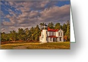 Puget Sound Greeting Cards - Admiralty Head Lighthouse Greeting Card by Dan Mihai