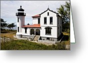 Admiralty Greeting Cards - Admiralty Head Lighthouse Greeting Card by James Marvin Phelps