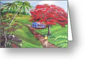 Campesino Greeting Cards - Admirando El Campo Greeting Card by Luis F Rodriguez