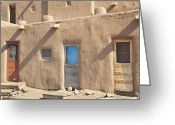 Taos Pueblo Greeting Cards - Adobe Buildings of Taos Greeting Card by Bryan Mullennix