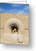 Taos Pueblo Greeting Cards - Adobe Oven Greeting Card by Bryan Mullennix