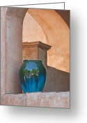Archways Greeting Cards - Adobe Stoneware Greeting Card by Jeffrey Campbell