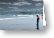 New England Digital Art Greeting Cards - Adolescence Greeting Card by Eddie Durrett